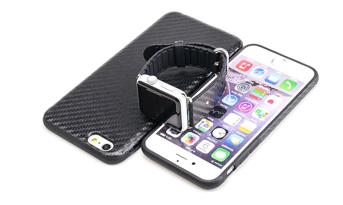Matching apple watch band and iphone case