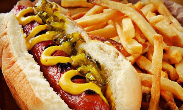 Mad Dogs - Santa Barbara: Hot Dogs, Fries, and Beer or Sodas for Two or Four at Mad Dogs (53% Off)