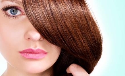 Haircut and Makeup Application with Optional Highlights or Men's Haircut at H Salon (Up to 66% Off)