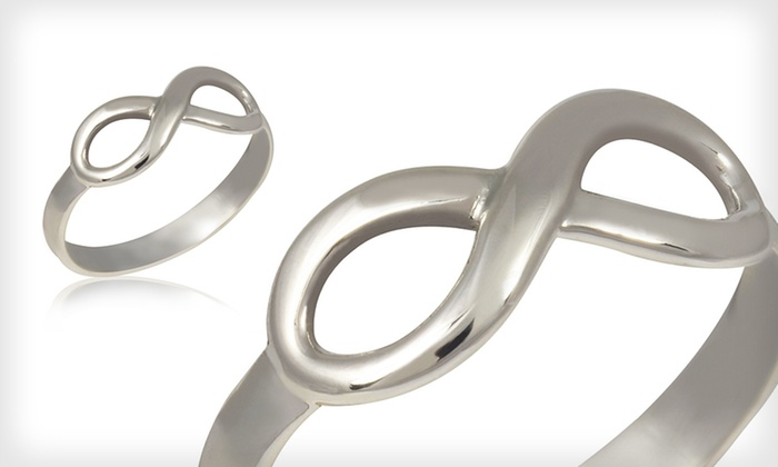 Sterling Silver Infinity Ring: $19 for a Sterling Silver Infinity Ring ($59.99 List Price). Four Sizes Available. Free Shipping and Returns.