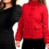 Women's Wool-Blend Toggle Coat