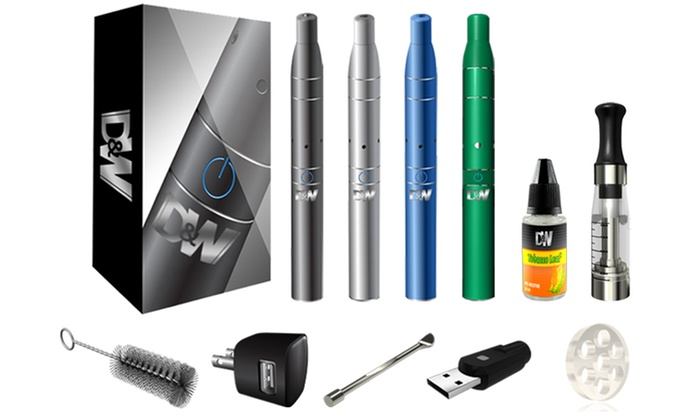 D&W Dry Herb Vaporizer Kit: D&W Dry Herb Vaporizer Starter Kit in Black, Blue, Green, or Gray. Free Shipping.