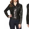 BCBGeneration Black Leather Moto Jacket