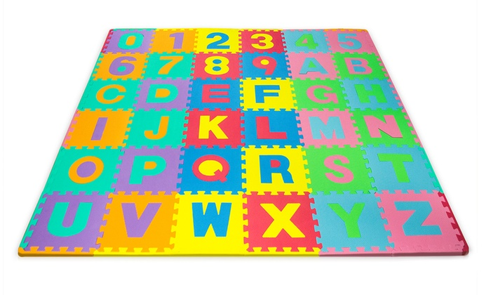 Foam Floor Alphabet And Number Puzzle Mat (96 Piece)