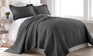 Rebecca 100% Cotton Bedspread Coverlet Quilt Set (3-Piece)