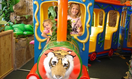 $5 for a Kids' Play Pass with Rides and Access to Jungle Gyms at Indoor Safari Park ($9.99 Value)
