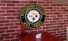NFL Round Distressed Sign: NFL Round Distressed Sign