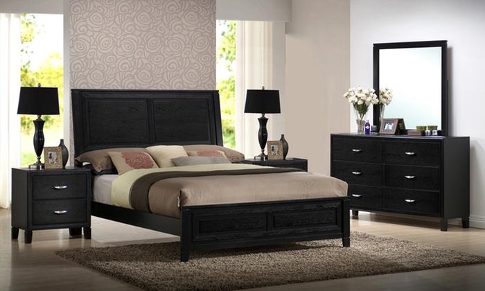 Eaton Rubberwood Queen Bed