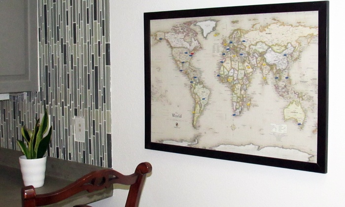 Usa or world magnetic pin travel map with bonus 20 pins groupon usa or world magnetic pin travel map with bonus 20 pins gumiabroncs Gallery