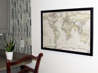 USA or World Magnetic-Pin Travel Map