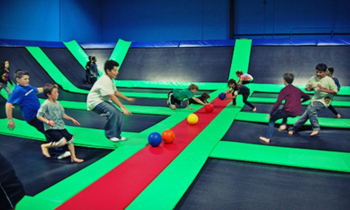 Bounce! Trampoline Sports - Valley Cottage: Two Hours of Indoor Trampoline Play for Two or Four at Bounce! Trampoline Sports (Up to 52% Off)