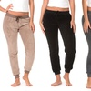 Women's Plush Jogging Pants in Standard and Plus Sizes (2-Pack)