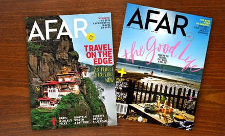 $10 for a 1-Year, 7-Issue Subscription to AFAR Magazine