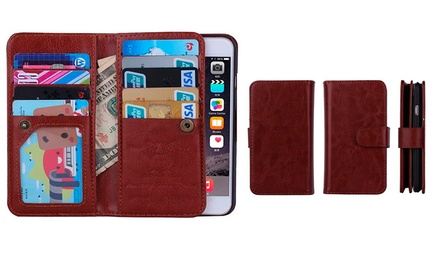 Trend Matters Polyurethane-Leather Magnetic Flip Wallet Case for iPhone 6 or 6 Plus