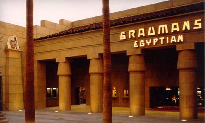 Aero Theatre or Egyptian Theatre - Multiple Locations: Movie, Soda, and Popcorn for Two or Four at American Cinematheque's Aero Theatre or Egyptian Theatre (Up to 59% Off)