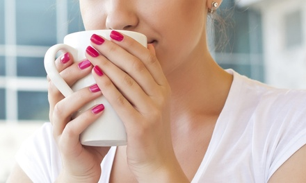 One or Two Shellac Manicures or One Manicure and Spa Pedicure at The Lacquer Lounge Nail Salon (Up to 53% Off)