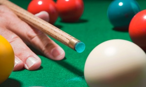Hot Shots Westside Billiards: Pool at Hot Shots Westside Billiards (Up to 65% Off). Two Options Available.