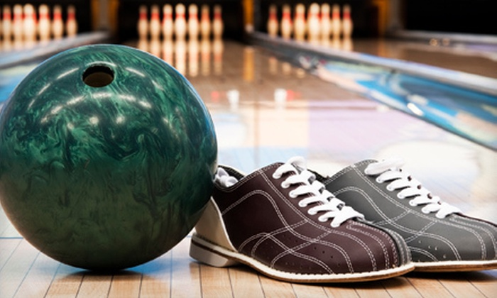 Nesbit's Lanes - Plum: Bowling Package with Pizza and Soda for Two, Four, or Six at Nesbit's Lanes (Up to 67% Off)