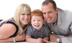 Moment in Time Photography: One-Hour Family Photoshoot With Four Prints for £19 at Moment in Time Photography