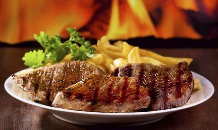 Menu di carne alla carta con caraffa