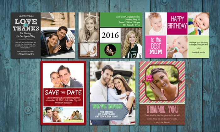 "MailPix, Inc.: 50, 75, or 100 5""x7"" Greeting Cards from Mail Pix (Up to 62% Off)"