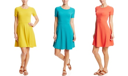 Magic Women's Short-Sleeved Fit and Flare Dress | Brought to You by ideel