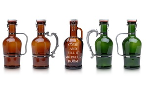 Growler Room: One or Two Custom Screw-Top Growlers with Complimentary Samples at Growler Room (Up to 37% Off)