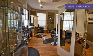Salon KG: Haircut with Optional Highlights or All-Over Color at Salon KG (Up to 62% Off). Four Options Available.