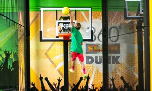 Jump Time or Party Packages at Rockin' Jump Indoor Trampoline Park (Up to 44% Off). Six Options Available.