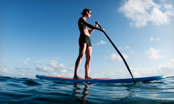 One Heart SUP - Multiple Locations: 90-Minute Paddleboard Lesson for One or Two, or Private Group Lesson for Up to Eight from One Heart SUP (Up to 59% Off)