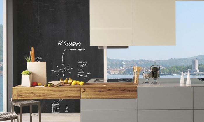Pareti Lavagna In Cucina : Muro lavagna cucina pittura effetto lavagna per i pensili di una