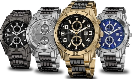August Steiner Men's Multifunction Bracelet Watch. Multiple Styles Available. Free Returns.
