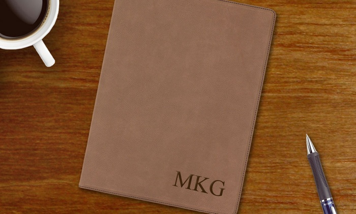 Monogram Online: One or Two Monogrammed Dark-Brown Leatherette Portfolios with Notepads from Monogram Online (Up to 55% Off)
