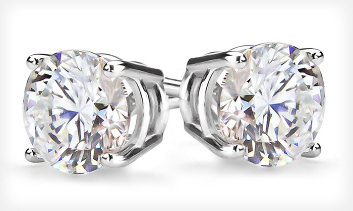 Certified 14K Diamond Stud Earrings: 1/3-Carat, 1/2-Carat, or 1-Carat Round Diamond Stud Earrings (Up to 66% Off). Free Shipping and Free Returns.