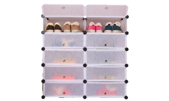 Compartment Modular Shoe Cabinet