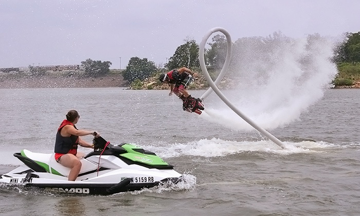 Red Dirt Flyboard - CrossTimbers the Harbor Marina: 30-Minute Flyboard Session for One or Two from Red Dirt Flyboard (Up to 54% Off)