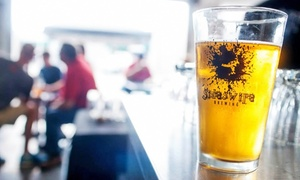 Sideswipe Brewing: Beer-Tasting Package with Take-Home Glasses and Growlers for 2 or 4 at Sideswipe Brewing (Up to 51% Off)