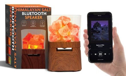One or Two Aquarius Himalayan Salt Lamp Bluetooth Speakers