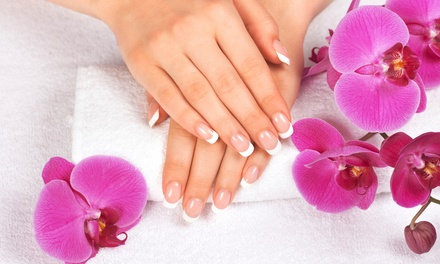 Mani-Pedi with Warm Lotion Massage or Gel Manicure at Oh My Salon and Spa (Up to 50% Off)