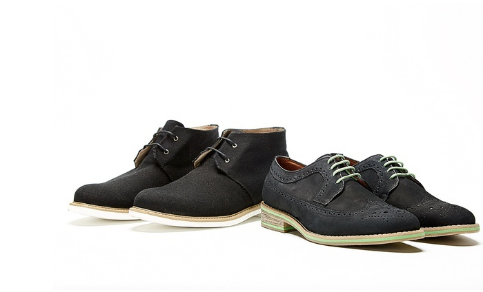 J.D. Fisk Men's Chukka Boots or Wing-Tip Oxfords: J.D. Fisk Men's Chukka Boots or Wing-Tip Oxfords from $74–$92