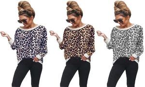 (Mode)   Top manches longues léopard  -40% réduction