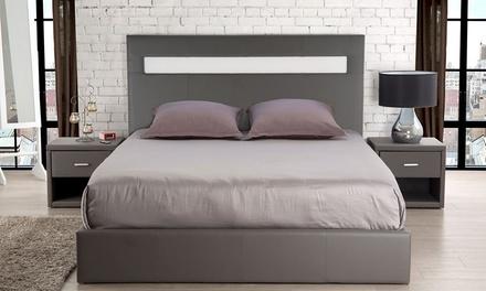 Tête de lit LED en simili cuir, avec livraison offerte