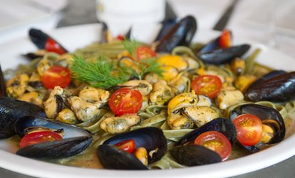 image for Seafood Starter and Drinks for Two or Three-Course Dinner for Two at Litchfield Saltwater Grille (Up to 42% Off)