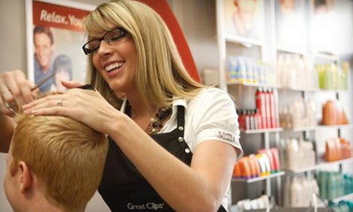 Great Clips - Multiple Locations: One or Three Haircuts with Shampoos at Great Clips (54% Off)