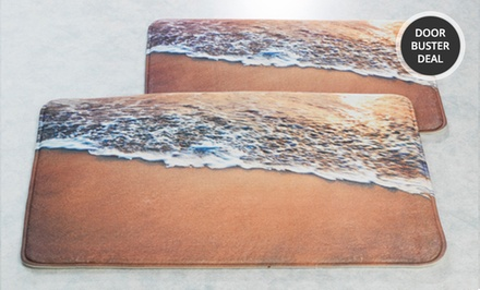 Two-Piece Photo-Printed Memory-Foam Bath-Mat Sets. Multiple Styles Available. Free Returns.