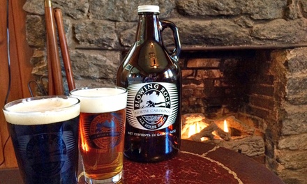 Brewery Package for Two or Four with Beers, Pint Glasses, and Growlers at Blowing Rock Brewing Company