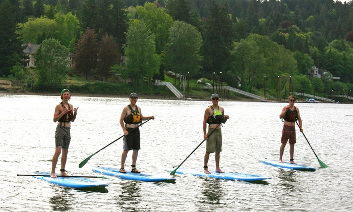Zoe Outfitters - Riverfront Park: Three-Hour Standup-Paddleboard Rental with 1-Hour Lesson Included for Two at Zoe Outfitters (Up to 47% Off)