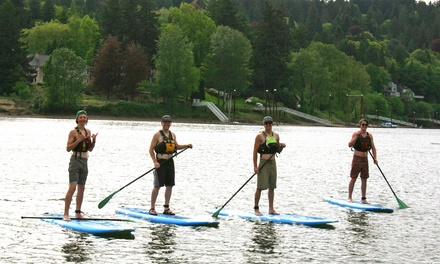 Three-Hour Standup-Paddleboard Rental with 1-Hour Lesson Included for Two at Zoe Outfitters (Up to 47% Off)