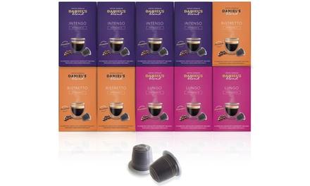 Pack de 100 cápsulas de café Daniels Blend compatibles con máquinas Nespresso