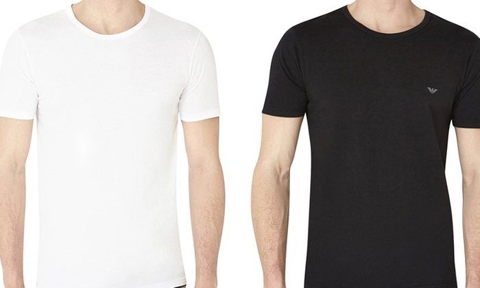 well known first rate best sale Emporio Armani 3-Pack T-Shirts | Groupon Goods